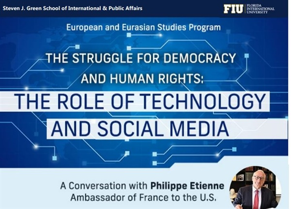 The Struggle for Democracy and Human Rights: The Role of Technology and Social Media (Free Webinar)